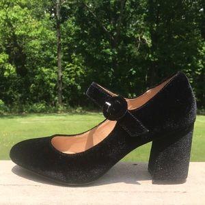 Shoes - Esprit velvet Mary Janes never worn👠